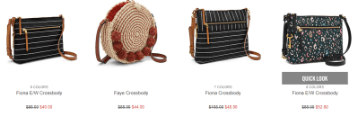Fossil : Handbags At 60% Off + Extra 40% Off + Free Shipping. Hurry!