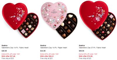 Macy's : Godiva Chocolate Sale!