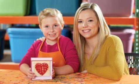 Heart String Art Workshop for Kids at Home Depot on Saturday