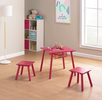 Walmart : Kids Wood Play Table & 2 Stools Set with Net Storage Just $24.68 (Reg $49.97)