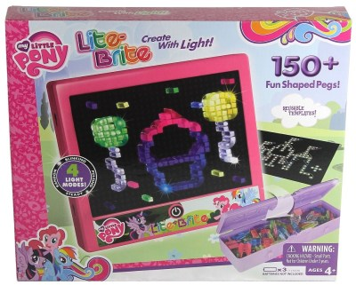 Walmart : Lite Brite My Little Pony Edition With 4 Reusable Templates, 150+ Colored Pegs and 4 Different Light Effects Just $18.99 (Reg $29.99)