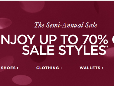 Michael Kors : Semi-Annual Sale Up To 70% Off + FREE Shipping.