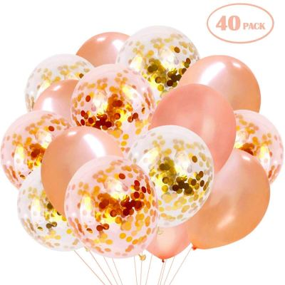 Amazon : Rose Gold Confetti Balloons, 40PCS Just $4.99 W/Code (Reg : $10.98) (As of 1/19/2020 8.50 PM CST)