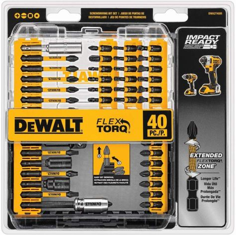 DeWALT 40-Piece Impact Ready Screwdriving Bit Set Only $14.64 (Reg. $40)