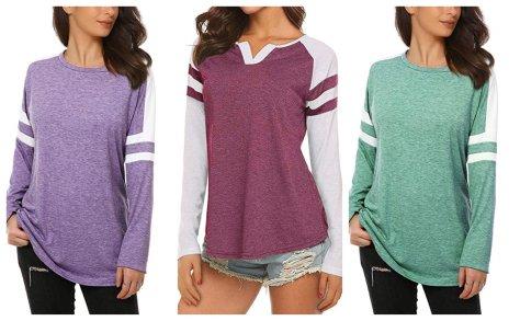 Womens Casual Baseball T-Shirt for $12.99 w/code