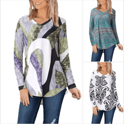 Amazon : Women's Casual Comfy Print V Neck Tunic Tops Just $10.29 W/Code (Reg : $25.99) (As of 1/22/2020 5.55 AM CST)