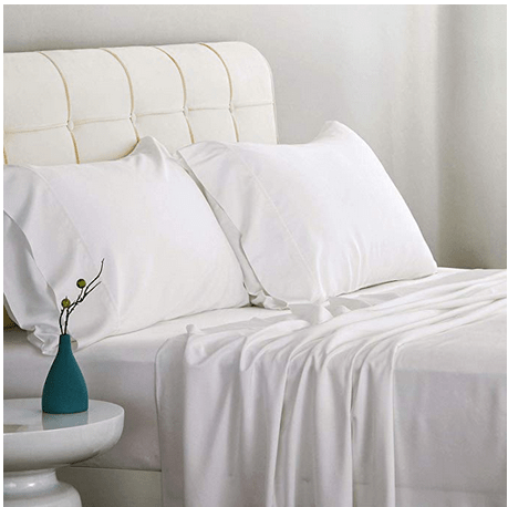 Bedsure Bed Bamboo Sheet Set Full Size White 100% Bamboo Viscose Bed Linen in for $18 w/code