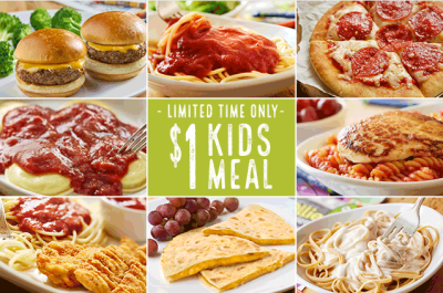 Olive Garden: $1 Kids Meal w/ Adult Entree Purchase Coupon