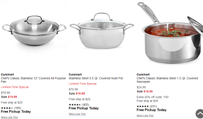 Macy's : Stainless Steel Pans Sale!