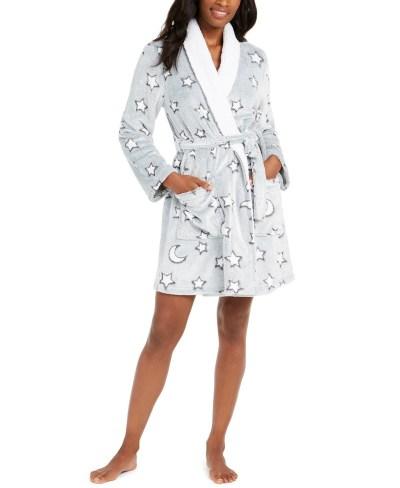 MACY'S: Womens Short Plush Wrap Robe For $9.96 + Store Pickup.
