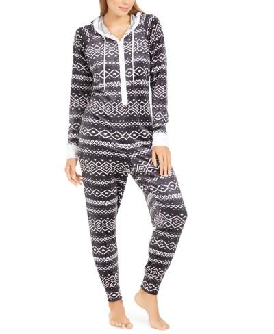 MACY'S: SALE! Jenni Hooded One Piece Printed Pajama $8.96 (Reg $59.50)