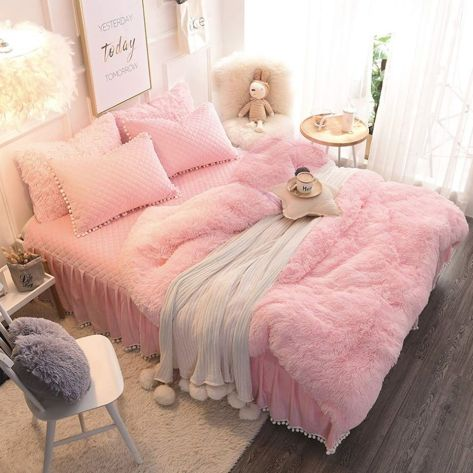 Fuzzy Ultra Soft Cozy Fluffy Blanket Luxury Long Hair Home Decor & Shaggy Bed Throws for Sofa Couch(Pink, 50x60 inch) for $16.49 w/code