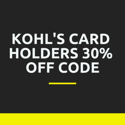 Kohl's Card Holders 30% Off Code + HUGE List of Stacking Codes!