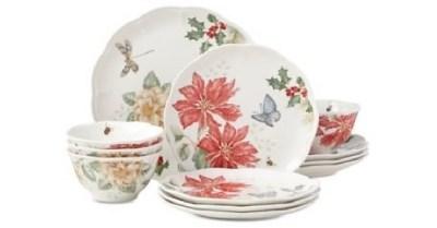 Macys: Lenox Butterfly Meadow Holiday 12-Piece Dinnerware Set $63.93 ($275)