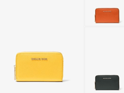 Michael Kors : Small Pebbled Leather Wallet Just $$35.70 (Reg $68)