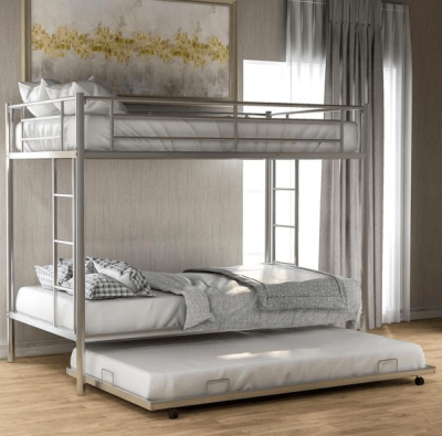 Home Depot : Silver Twin Over Twin Bunk Bed with Trundle Just $279.99 (Reg : $399.99)