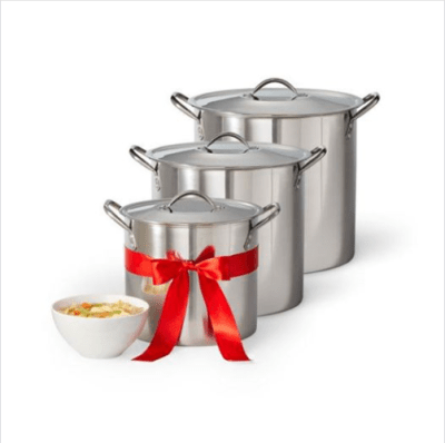 Jcpenney : Stainless Steel 3 Pack Stockpot Just $15.99 W/Code(Reg : $60)