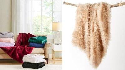MACY'S: Martha Stewart Solid or Longhair Faux Fur Throw ONLY $18.99 (Reg $65)