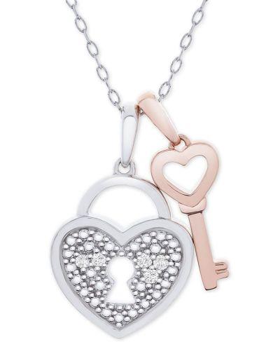 MACY'S: Diamond Accent Heart Lock $23.70 (Reg $185.00) with code FLASH