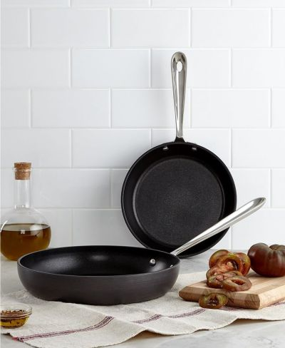 "MACY'S: All-Clad Hard Anodized 8"" & 10"" Fry Pan Set, $44.99 (Reg $74.99) with code VIP"