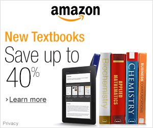 AMAZON: NEW TEXTBOOK, SAVE up to 40% OFF