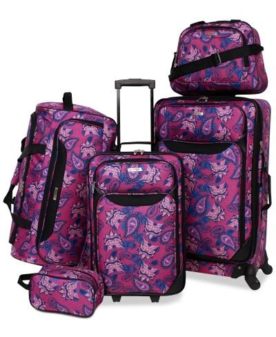 MACY'S: SALE!!! Springfield III Printed 5-Pc. Luggage Set $59.99 (Reg $240.00)