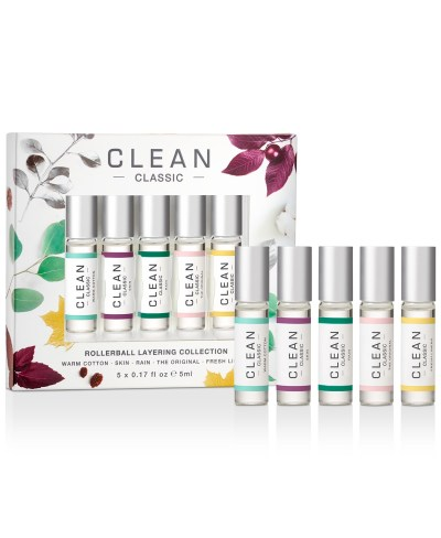 MACY'S: Clean Fragrance 5-Piece Classic Rollerball Gift Set ONLY $10 (Reg $20)