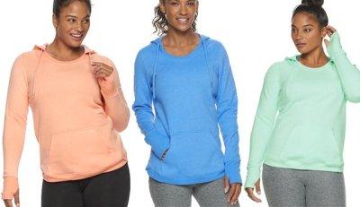 KOHL'S: Women's Tek Gear Fleece Hoodie ONLY $8.49 (Reg $26) – Many Colors!