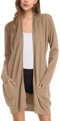 Amazon : Women Solid Open Front Long Knited Cardigan Sweater Just $2.68-$3.15 W/Code (Reg : $16.99) (As of 3/19/2020 5.20 AM CST)