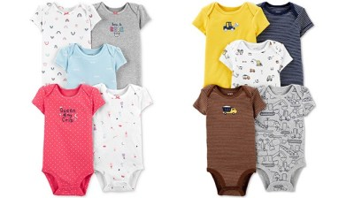 MACY'S: Carter's Bodysuits Starting at ONLY $1.96 Each – Many Cute Designs!