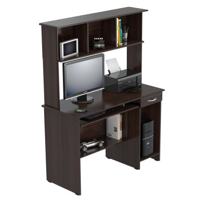 WALMART: Inval Computer Work Center with Hutch, Espresso-Wengue Finish $120.95 (Reg $139.02)