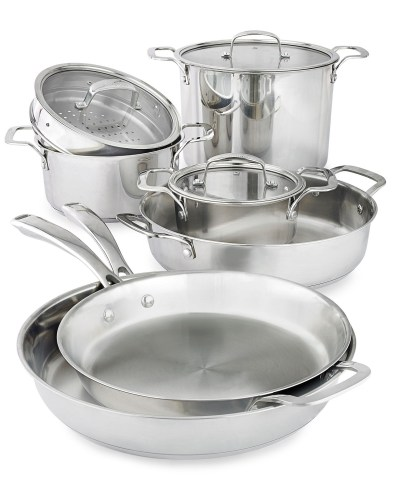 MACY'S: Belgique Stackable 10-Pc. Stainless Steel Cookware Set $143.99 ($380)