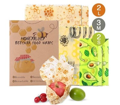AMAZON: Reusable Beewax Food Wrap – LD DOUBLE DISCOUNT! WITH CLIP $6 COUPON!!