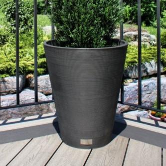 WALMART: Veradek Kobo Round Planter – Black – 14 in. $14.99 ($29.99)