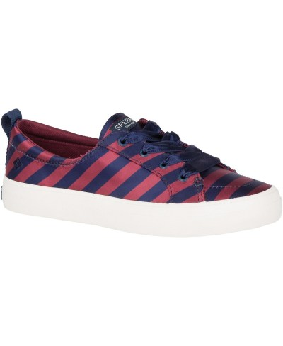 MACY'S: Sperry Women's Crest Vibe Varsity Stripe Satin Sneakers For $28
