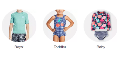 TARGET: Swimwear for the Family Buy 1, Get 1 50% off!