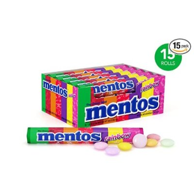 AMAZON: 15 Rolls Mentos Chewy Mint Candy Roll, Rainbow for $10.55