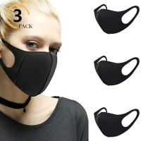 AMAZON: 3 Pack Black Mouth Masks, LIMITED STOCK