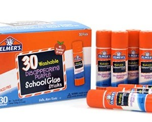 AMAZON: Elmer's Disappearing Purple School Glue, Washable, 30 Pack – PRICE DROP!