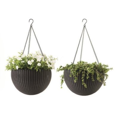 WALMART: Keter Round Resin 13.8-In D Hanging Planters 2-Pack $24.99 + Store Pickup