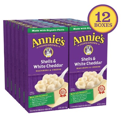 AMAZON: Annie's Shells & White Cheddar Mac and Cheese (12 Packs)