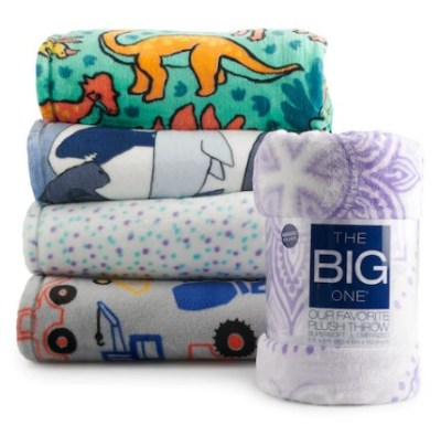 KOHL'S: The Big One Plush Throws JUST $8.98 (Regularly $30) – Today Only!