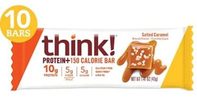 AMAZON: think! (thinkThin) Protein+ 150 Calorie Bars - Salted Caramel
