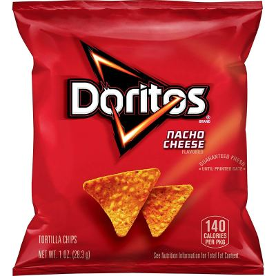 AMAZON: 40 Pack Doritos Nacho Cheese Flavored Tortilla Chips, 1 oz for $11.18 Shipped!