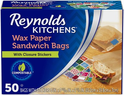 AMAZON: 50 Count Reynolds Kitchens Wax Paper Sandwich Bags for $2.59 (Reg.Price $3.99)