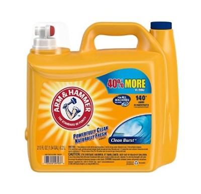 AMAZON: Arm & Hammer Laundry Detergent Liquid He, Clean Burst, 210 Ounce