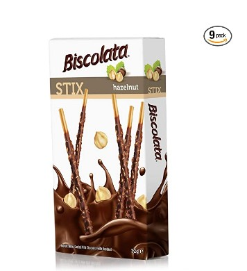 AMAZON: Biscolata Stix Biscuit Snacks Coated with Milk Chocolate - (9 Pack) – 65% OFF!