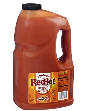 AMAZON: 1 Gallon Frank's RedHot Original Buffalo Wings Sauce for $11.98 Shipped!