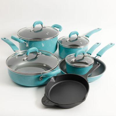 WALMART: The Pioneer Woman Vintage Speckle & Cast Iron 10-Piece Non-Stick Cookware Set $89.99 (Reg $129.99)