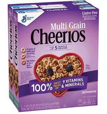 SAM'S CLUB: Multi-Grain Cheerios Gluten-Free Cereal (18.75 Oz., 2 Pk.) $6.98 + Free Shipping
